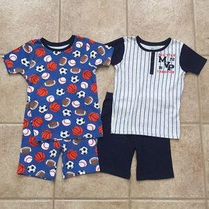 Carter's Boys Sports Shirt & Shorts Pajamas Set